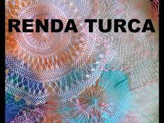 Renda Turca - Artesanato - Amostras de Renda Turca - YouTube Needle Lace, Needle And Thread, Types Of Lace, Crochet Borders, Filets, Irish Lace, Lace Making, String Art, Needlework