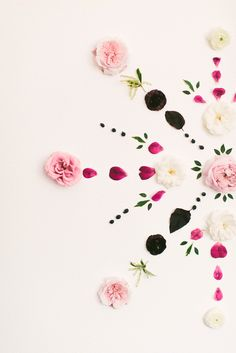 DIY Fresh Floral Mandala Backdrop - http://www.stylemepretty.com/living/2015/02/03/diy-fresh-floral-mandala-backdrop/