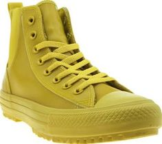 Converse Yellow Chelsea Rubber Hi Womens Trainers No need to kiss goodbye to Converse as the harsher weather arrives. The Chelsea Rubber Hi lands fresh from their Counter Climate collection, with a rubber construction to keep feet dry. The yellow upp http://www.comparestoreprices.co.uk/january-2017-8/converse-yellow-chelsea-rubber-hi-womens-trainers.asp