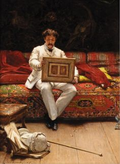 Victor Joseph Chavet (French, 1822-1906) - The Connoisseur, oil on panel