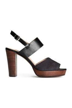 Sandalettes en cuir | H&M