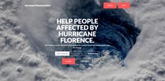 Help people affected by Hurricane Florence. Fundraising Sites, Donation Page, Raise Funds, Go Fund Me, Website Template, Helping People, Florence, North Carolina, Action
