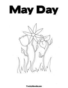 free printable coloring page for kids to make cards or give Nana