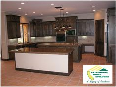 Gourmet kitchen in a custom home by California Home Builders