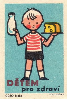 O - O - O czechoslovakian matchbox label by maraid Vintage Packaging, Vintage Labels, Vintage Ads, Illustration Design Graphique, Retro Illustration, Matchbox Art, Ligne Claire, Retro Images, Retro Ads