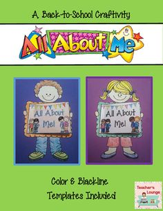 All About Me Back-to-School Craft from Teacher's Lounge on TeachersNotebook.com (41 pages)