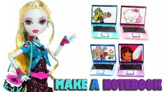 How to make a doll notebook or laptop computer  - Doll crafts