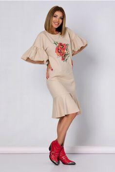 Pagina 2 - Rochii de Zi Casual - Preturi Avantajoase | DyFashion Bell Sleeves, Bell Sleeve Top, Peplum, Floral, Casual, Shopping, Tops, Women, Fashion