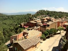 View from the rooftops of Roussillon. August 2011. Photo by Gerould Kern.