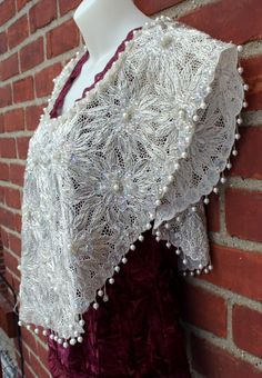 Bead and Sequin Shawl Caplet Blouse by DJVintage on Etsy, $45.00