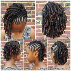 Braids For Short Hair Black Female New Natural Hairstyles - Natural Hair Styles New Natural Hairstyles, Natural Hair Braids, Braids For Short Hair, African Braids Hairstyles, Girl Hairstyles, Teenage Hairstyles, Casual Hairstyles, Flat Twist Hairstyles, Kid Braid Styles