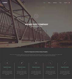 This dark Joomla theme includes Revolution Slider, a Bootstrap framework, unlimited colors, a responsive layout, a portfolio, a page builder, Google Maps integration, easy customization, and more.