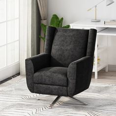"""Woodmere Fabric Swivel Chair by Christopher Knight Home - 29.50"""" W x 34.75"""" D x 39.00"""" H - Overstock - 31483032 Houston Houses, Coffee Chairs, Swivel Barrel Chair, Hallway Designs, Contemporary Fabric, Family Room Decorating, Chair Types, House Prices, Christopher Knight"""