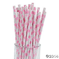 little pink straws for mason jar drinks