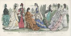 Free stock images for genealogy and ancestry researchers: Fashion, Young Ladies Journal, 1872, Fashion & Costume