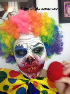 Evil clown #halloween#clown makeup