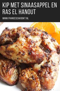 Kip met sinaasappel en ras el hanout - Francesca K - Salades Composees Marocaine Cooking Recipes, Healthy Recipes, Marinated Chicken, Daily Meals, Soul Food, Food Inspiration, Chicken Recipes, Dinner Recipes, Yummy Food