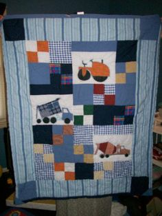 Boy Quilt with Vehicles