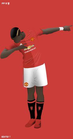 Paul Bogba of Man Utd wallpaper. Paul Pogba Manchester United, Manchester United Football, Football Icon, Football Design, Pogba Dab Wallpaper, Man Utd Pogba, Pogba Wallpapers, We 2012, Cr7 Messi