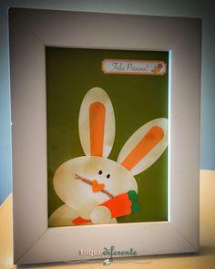 Feliz Páscoa! Coelho para centro de mesa (Silhouette Cameo)  Happy Easter! Bunny using Silhouette Cameo