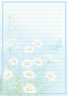 Letter and Envelope papers - Paper Letter and Envelope - Letter Paper and Envelope printing: Flowers - Floral with envelopes Printable Lined Paper, Free Printable Stationery, Lined Writing Paper, Writing Papers, Envelopes, Scrapbook Paper, Scrapbooking, Notebook Paper, Stationery Paper