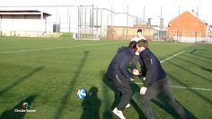 Jamie playing Circular Soccer with Rory McIlroy