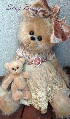 Tara and Tiny by By Shaz Bears | Bear Pile