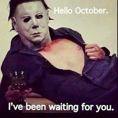 My fav during Halloween michael myers Funny Horror, Horror Movies, Funny Quotes, Funny Memes, Hilarious, Jokes, Hello October, Film Serie, Freddy Krueger
