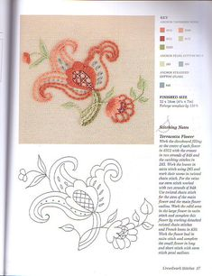 Jacobean Flower • Crewel Embroidery