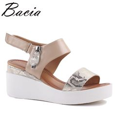 ... летняя обувь на толстой танкетке, повседневные туфли лодочки на  платформе, женская обувь из натуральной кожи, Размеры 35 41, SA005 купить на  AliExpress 710703d005f