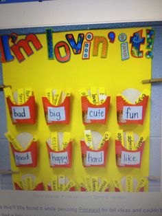 Synonyms Board (could use as a challenge for my students)