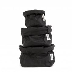 Beautiful, original and organic washable paper bag in black by Uashmama. Uashmama paper bags are famous for their style, quality and multifunction. They can be used as a storage basket, plant pot or present food, bread and wine. Stanley Products, Office Bin, Bread Bags, Wooden Chopping Boards, Paper Plane, Black Paper, Organizing Your Home, Desk Accessories, Mild Soap