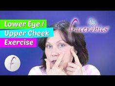 Remove Eye Bags   Under Eye Fluid   Festoons   Malar Bags Using Easy Exercise for Face   FACEROBICS® - YouTube