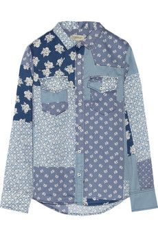 Current/Elliott The Western printed chambray shirt | THE OUTNET #JeanDream #Denim