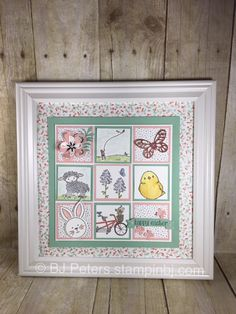 Gorgeous Easter Frame - easy to make because I give you hints and measurements to make it easy.  Part of my week of Easter Inspiration.