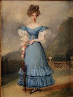 Caroline, Duchess of Berry by Alexandre-Jean Dubois-Drahonet,   1820
