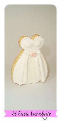 bi kutu kurabiye wedding decorated fondant cookie diy tutorial