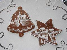 Zdobení perníčků - polevy Gingerbread Cookies, Christmas Cookies, Gingerbread Houses, Christmas Ideas, Honey Cake, Icing, Food, Decorating, Dekoration