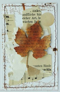 Anina papirčkalnica: Welcome Autumn Atc Cards, Card Tags, Art Journal Pages, Junk Journal, Art Journaling, Paper Art, Paper Crafts, Art Trading Cards, Leaf Cards