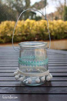 DIY: Porta velas colgante