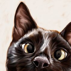 Finn's portrait was a looser painterly style and it was so nice to take a break from the ultra-detailed portraits I usually do! I'm thinking of offering a new [less expensive! ] commission package in addition to my photorealistic portraits--what do you think? (c) DANIELLE STRATFORD