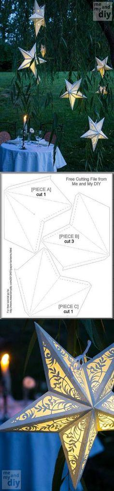 DIY paper Star Lanterns by loreal