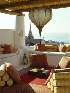 more of the Moroccan inspired out door living decor.
