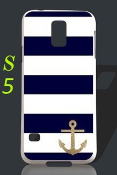 Glitter Anchor Stripe Samsung galaxy s5 case galaxy by wangmade