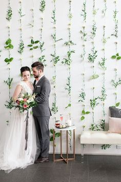 Pink and Grey Organic Modern Wedding
