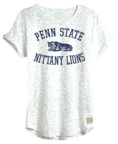 2273f329351 Retro Brand Women s Penn State Nittany Lions Slub Rolled Sleeve T-Shirt -  White XS