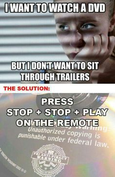 how to skip movie trailers. is this for real?