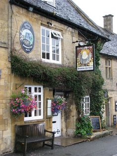 Stow-on-the-Wold, a charming medieval market village with delightfully rustic stone buildings.