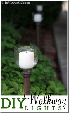 How to Make Outdoor Candle Lights Using Plastic Bottles