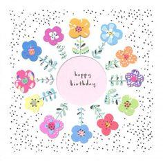 Birthday card - 'Birthday Flowers'